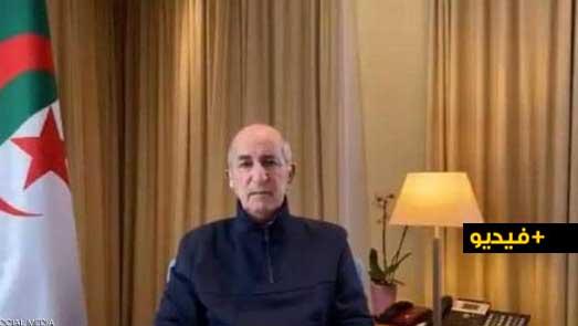 """شاهدوا.. """"الرئيس"""" الجزائري في أول ظهور بعد إصابته بكورونا: كنا نتوقع ما يجري في المنطقة"""