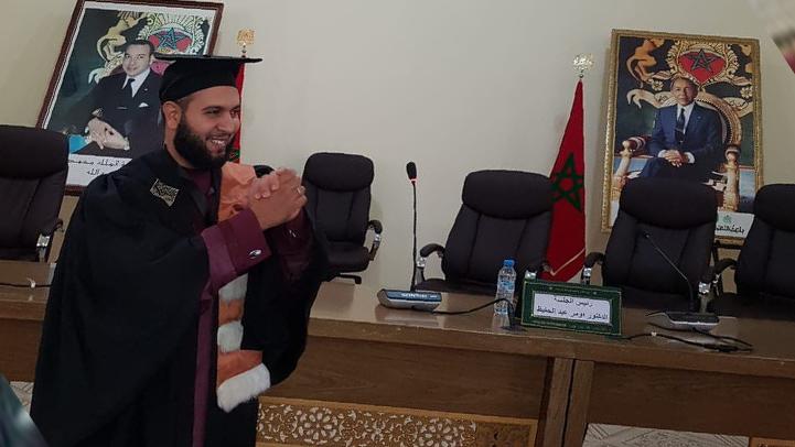 الأستاذ والخطيب الناظوري عبد الغفور بركاني ينال الدكتوراه بميزة مشرفة جدا مع التوصية بالطبع