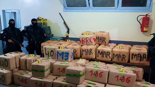 احباط تهريب أزيد من 700 كلغ من المخدرات إلى أوروبا