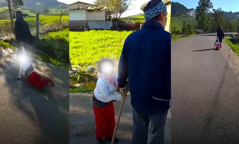 """الدرك يعتقل """"الجد"""" الذي ظهر في تسجيل مصور وهو """"يسحل"""" حفيدته"""