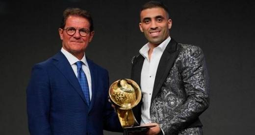 الدولي المغربي حمد الله يتفوق على محمد صلاح ويحرز جائزة أفضل لاعب عربي