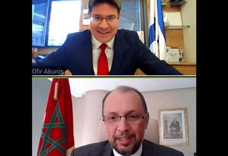 """الوزير المنتدب لدى وزارة الشؤون الخارجية و""""مغاربة العالم"""" يجري مباحثات مع وزير التعاون الإقليمي الإسرائيلي"""