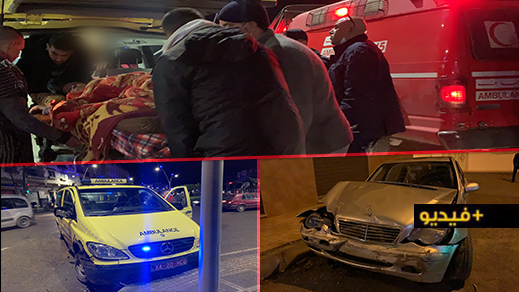 عدم إفساح الطريق لسيارة إسعاف تحمل مريضة يتسبب في حادثة سير وسط الناظور