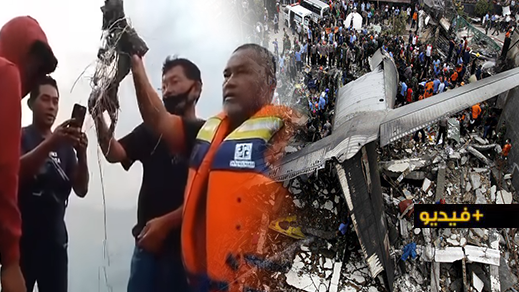 فيديو.. عشرات القتلى إثر حادث تحطم طائرة مدنية في جاكرتا