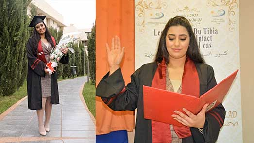 ابنة الناظور فاطمة الزهراء مول البلاد تنال شهادة الدكتوراه في الطب بميزة مشرّف جدا