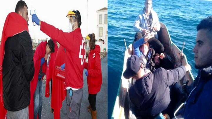 شباب من الحسيمة ينجحون في الوصول إلى اسبانيا على متن مركب صغير