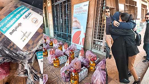"""جمعيات مغربية وأوروبية تدخل """"الفرحة"""" على مكفوفي الناظور"""