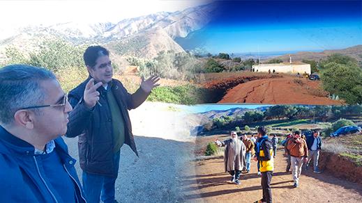 رئيس مجلس إقليم الدريوش يعد بمشاريع تنموية بدوار آيت حسان ببني توزين