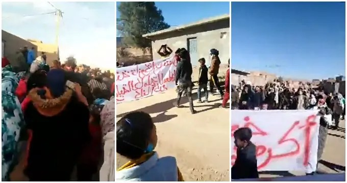 """احتجاجات عارمة تنديدا بالجريمة البشعة في حق الطفل """"أكرم"""""""