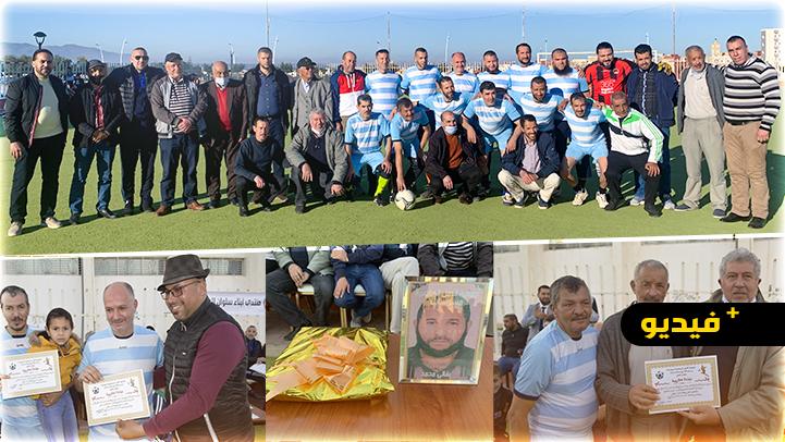 تكريم لاعب نادي أمل مسوسات أولاد ستوت محمد البقالي في مقابلة حبية بسلوان