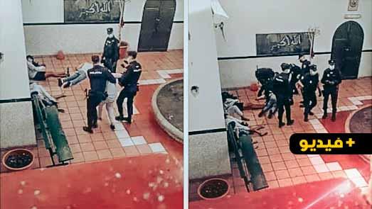 شاهدوا.. قاصرون بينهم مغاربة يتعرضون لتعذيب وحشي من الشرطة الإسبانية
