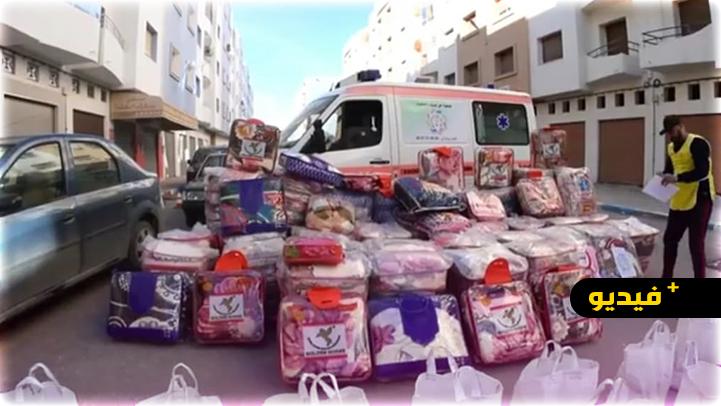 مبادرة الدفئ لجمعية حق اليتيم والضعيف تستهدف عشرات الأسر المعوزة بجبال تمسمان