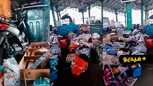 """مهنيو النقل الدولي للبضائع يشتكون إجراءات """"التفتيش"""" بميناء الناظور ويصرخون : كايتكرفصو علينا"""