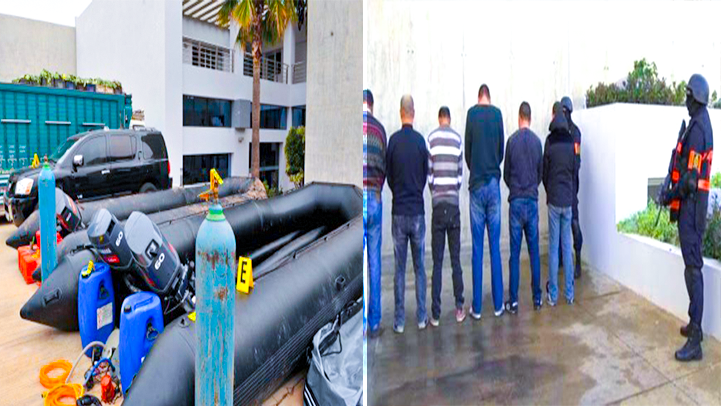 تفاصيل مثيرة.. اعتقال 16 شخصا بالناظور ينشطون ضمن شبكة للهجرة السرية وتهريب المخدرات