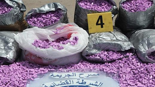 إجهاض عملية للتهريب الدولي للمؤثرات العقلية وحجز 490 ألف قرص طبي مخدر بميناء طنجة المتوسط