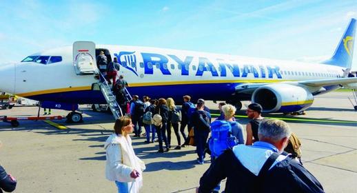 """شركة """"ريان إير"""" تطلق تخفيضات خيالية لعشرات الرحلات بين المغرب ودول أوروبا"""