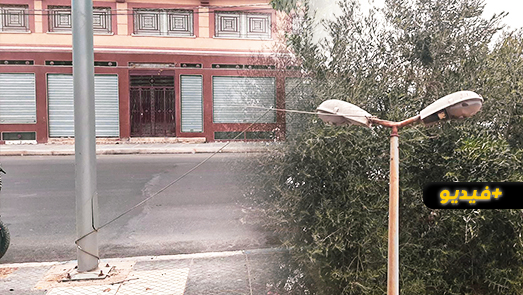 سلك كهربائي عالي التوتر يهدد المواطنين بالطريق الرئيسية الرابطة بين أزغنغان والناظور