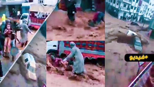 بعد الدار البيضاء وطنجة.. فيضانات مهولة تغرق مدينة تطوان