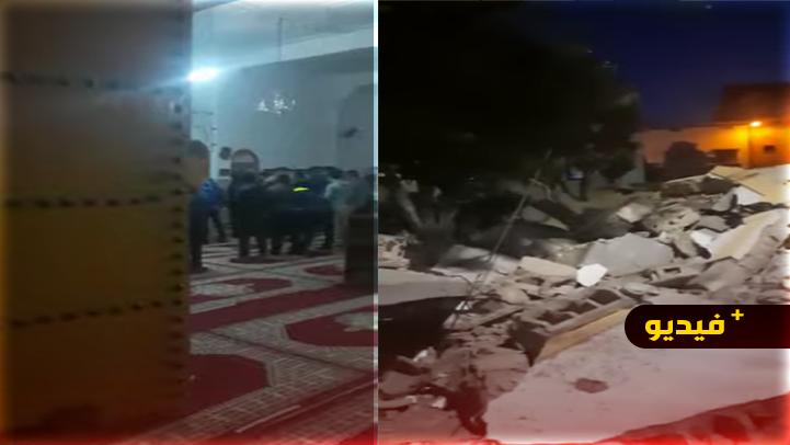 انهيار صومعة مسجد أثناء صلاة المغرب