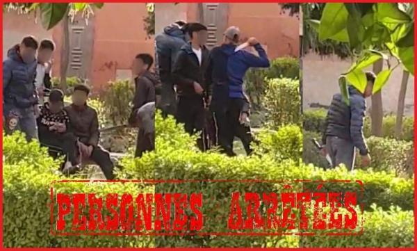 فيديو لقاصرين يشهرون أسلحة بيضاء يستنفر رجال الأمن