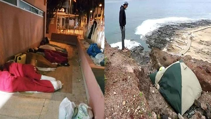 مغاربة يعيشون ظروف مأساوية بلاس بالماس