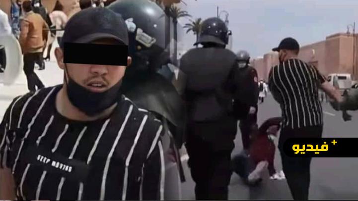 شاهدوا.. شخص بلباس مدني يعنف الأساتذة ووزير حقوق الإنسان يدخل على الخط