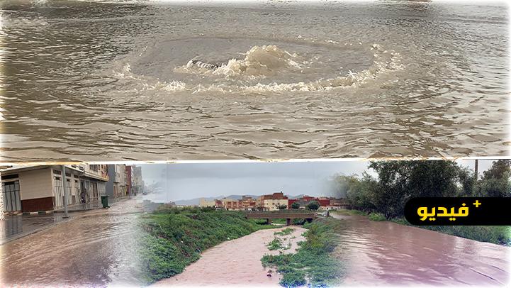 التساقطات المطرية تغرق أحياء وشوارع مدينة الناظور.. وتخوف الساكنة من وقوع كارثة