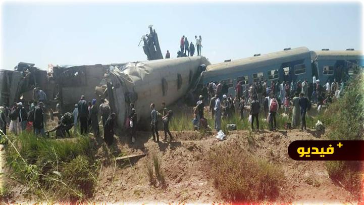 شاهدوا... أزيد من 30 قتيلا و 60 جريحا إثر حادث اصطدام بين قطارين