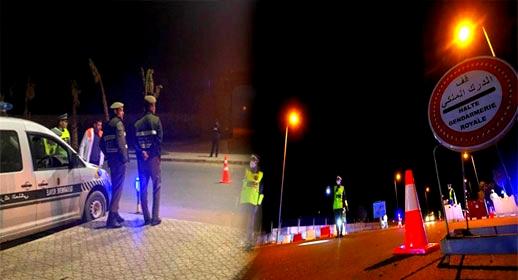 عناصر الدرك الملكي بقرية أركمان تفرض تدابير مشددة لفرض احترام حظر التجوال الليلي