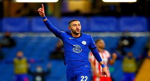 """شاهدوا.. النجم الريفي حكيم زياش يقود نادي """"تشيلسي"""" إلى نهائي كأس الاتحاد الانجليزي"""