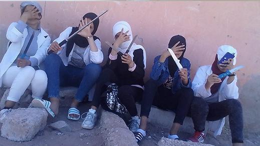 حمل اسلحة بيضاء يقود فتيات للإعتقال