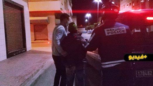 شاهدوا.. عناصر صقور الناظور تعتقل لصا بعد محاولة سرقة حقيبة سيدة