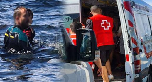 أول ضحايا النزوح الجماعي..  شاب يموت غرقا في طريقه إلى سبتة