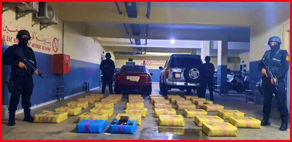 إحباط محاولة للتهريب الدولي للمخدرات وحجز كمية كبيرة من الحشيش