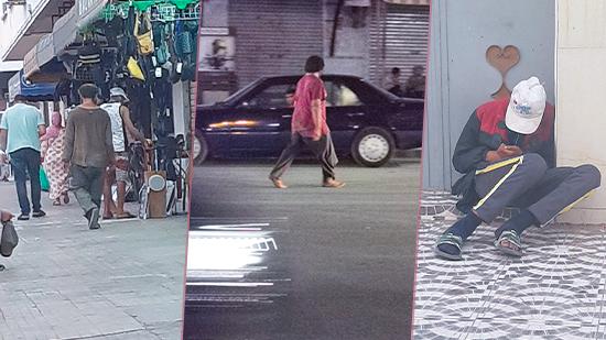 جحافل من الأشخاص في وضعية الشارع تثير مخاوف ساكنة الناظور  في ظل غياب الجهات المختصة