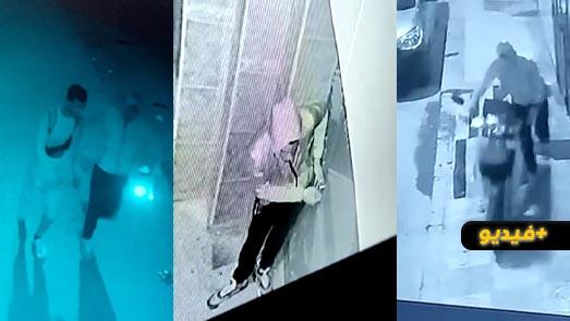 كاميرا المراقبة توثق عملية سرقة دراجة نارية من داخل عمارة سكنية بسلوان