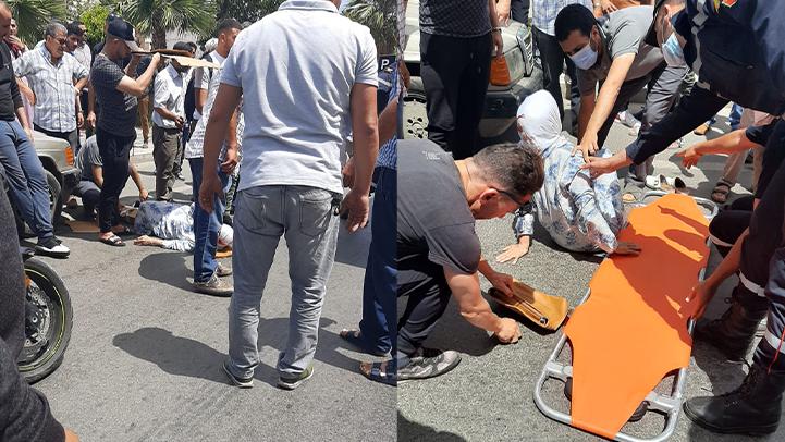 عدم احترام ممر الراجلين يدخل مسنة بالناظور المستشفى في حالة حرجة
