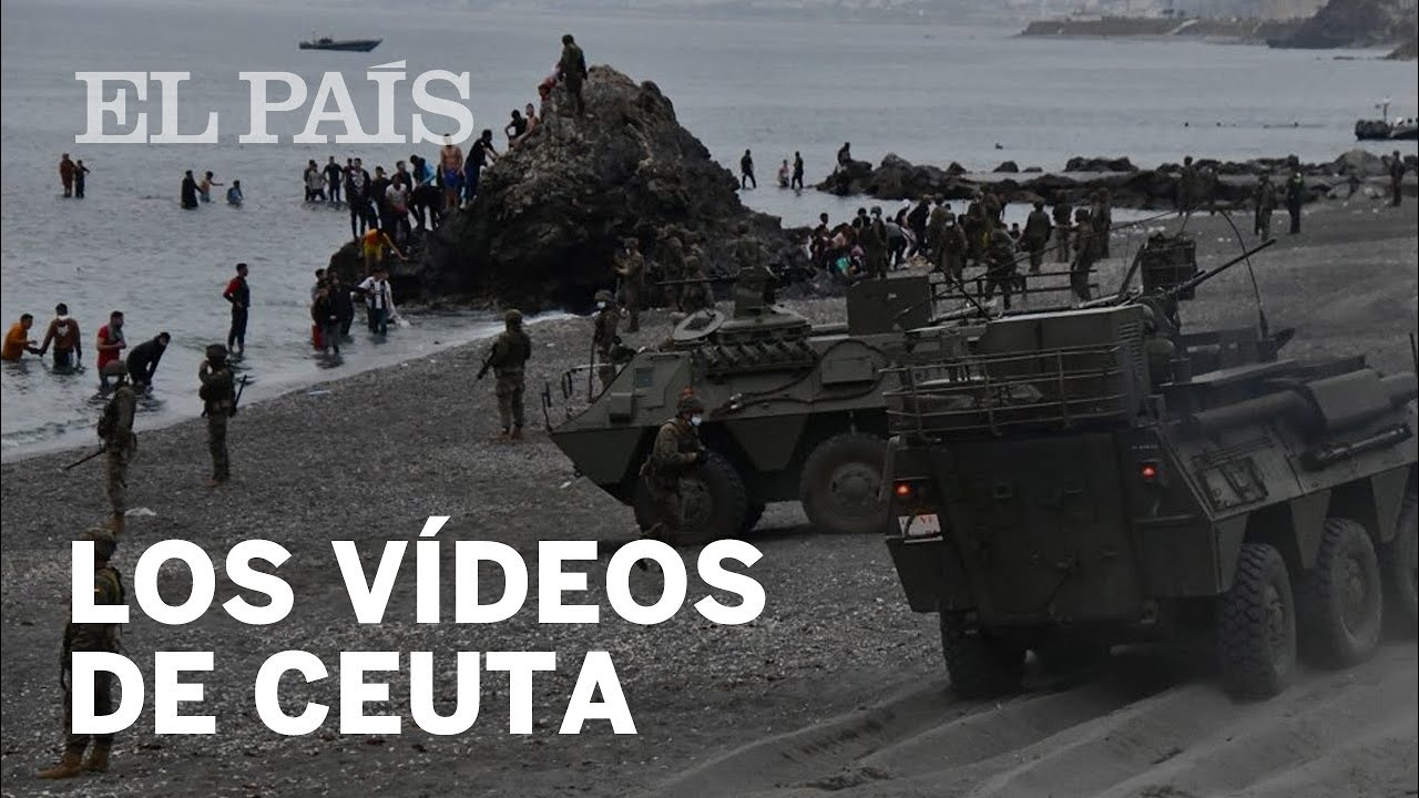 شاهدوا.. جنود إسبان يلقون أطفال مغاربة في عرض البحر