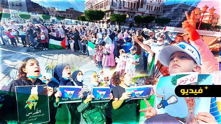 مناهضو التطبيع مع إسرائيل يحتجون بمدينة الناظور