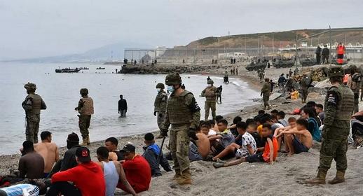 الجمعية المغربية لحقوق الإنسان بالناظور تفضح قيام إسبانيا بطرد 40 مهاجرا يمنيا صوب المغرب