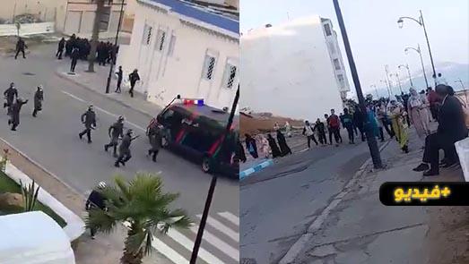 عودة الاحتجاجات لمدينة الفنيدق ومواجهات بين مواطنين وقوات حفظ النظام