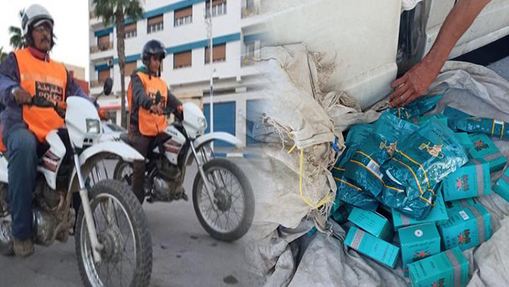 عناصر فرقة الصقور تعتقل لصا متلبسا بسرقة مواد غذائية من داخل سيارة وسط الناظور
