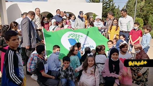 حفل رفع اللواء الأخضر بمدرسة كم وهدانة بعد تتويجها بجائزة المدارس الإيكولوجية