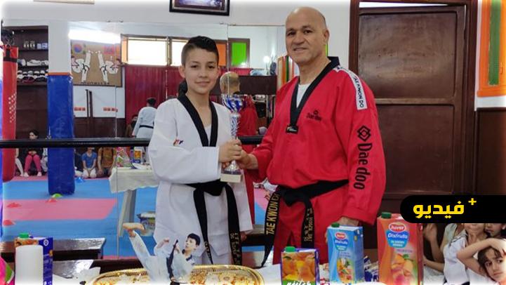 محمد بوحجار فتى ناظوري يسير بخطى ثابتة للتألق في رياضة التايكواندو