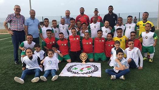 مربيات جمعية ايمن للتوحد في حلقة تكوينية واطفالها ضيوف على المنتخب المغربي لكرة القدم لقصار القامة