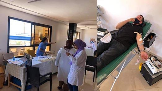 جمعية ثومات للتنمية تنظم حملة للتبرع بالدم بدار الكبداني