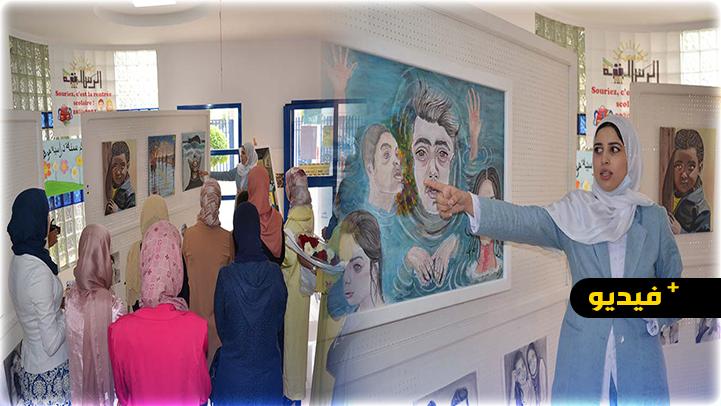 الناظور.. الفنانة التشكيلية أميمة الورياشي تعرض أعمالها الفنية