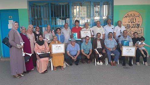 تكريم الأستاذ عبد الحميد الحبنوني مدير مدرسة الموحدين بعد أزيد من 30 سنة من العطاء التربوي والإداري