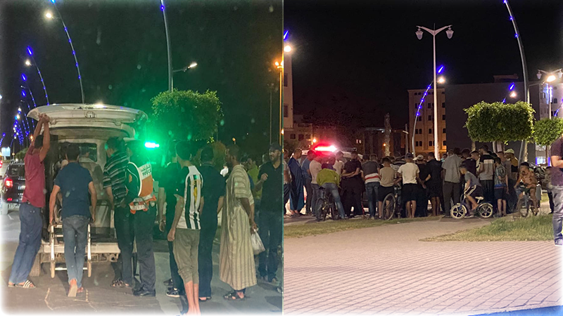 العروي .. شجار بين شخصين بالأسلحة البيضاء وسط الشارع العام