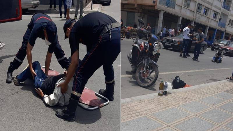 حادثة سير وسط الناظور ترسل مسنا للمستشفى الحسني